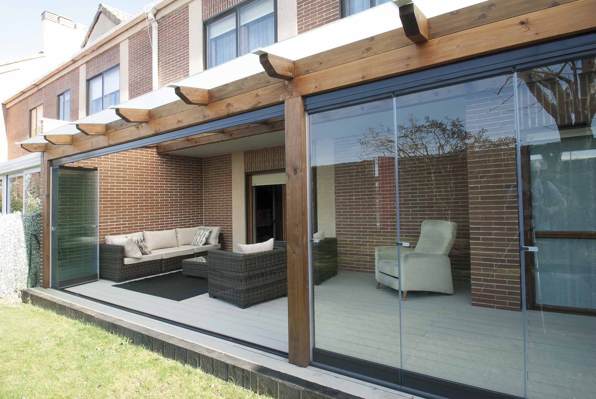 Construir un porche de madera free construir un porche de - Como hacer un porche de madera ...