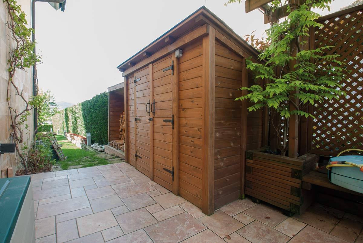 P rgola y caseta de madera proyectos echarri Caseta madera jardin