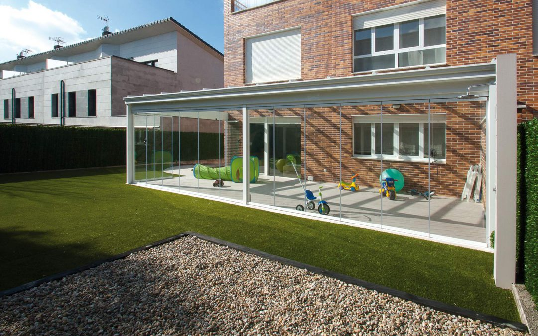 Jardín con Porche de aluminio