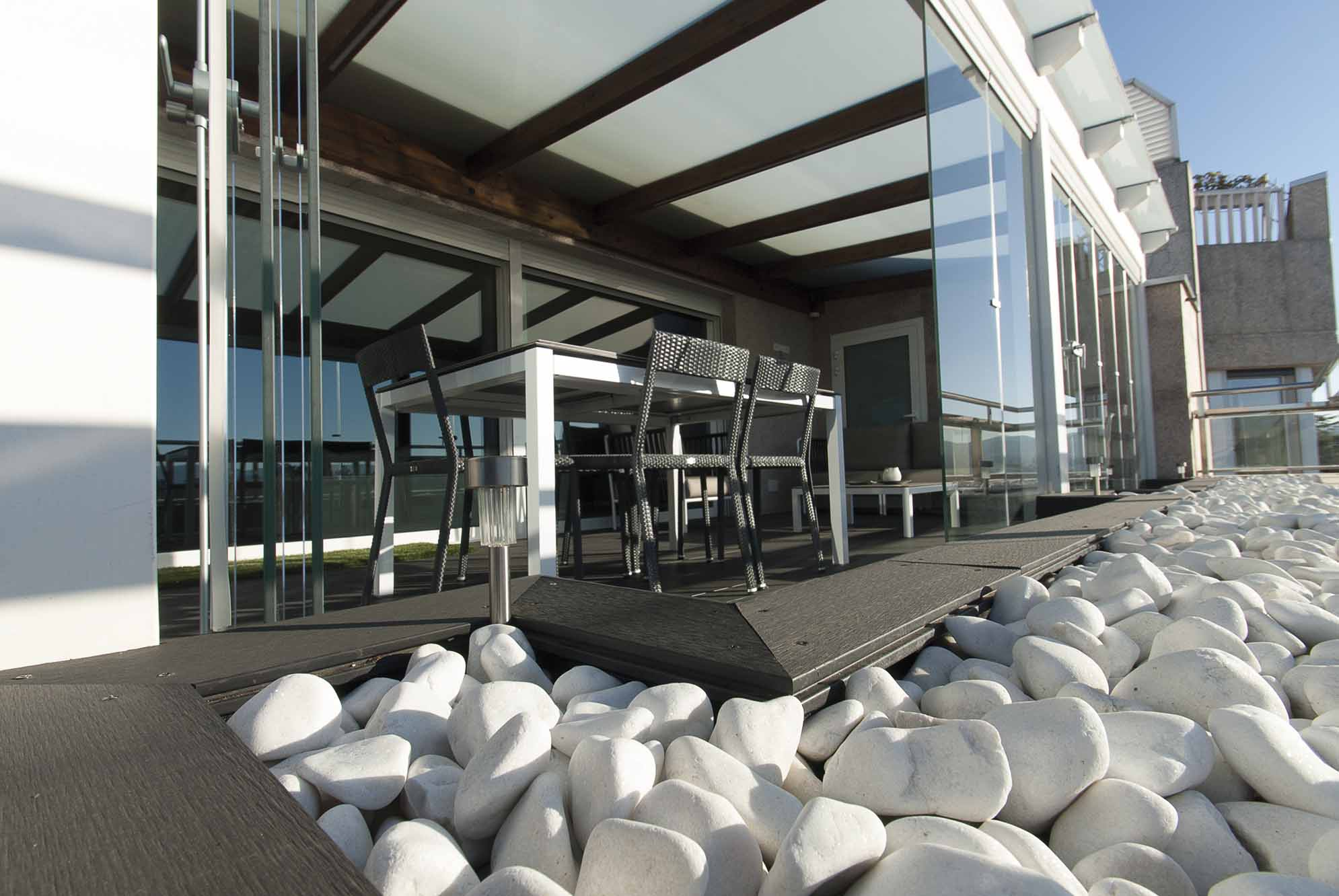Porche acristalado terraza de ático