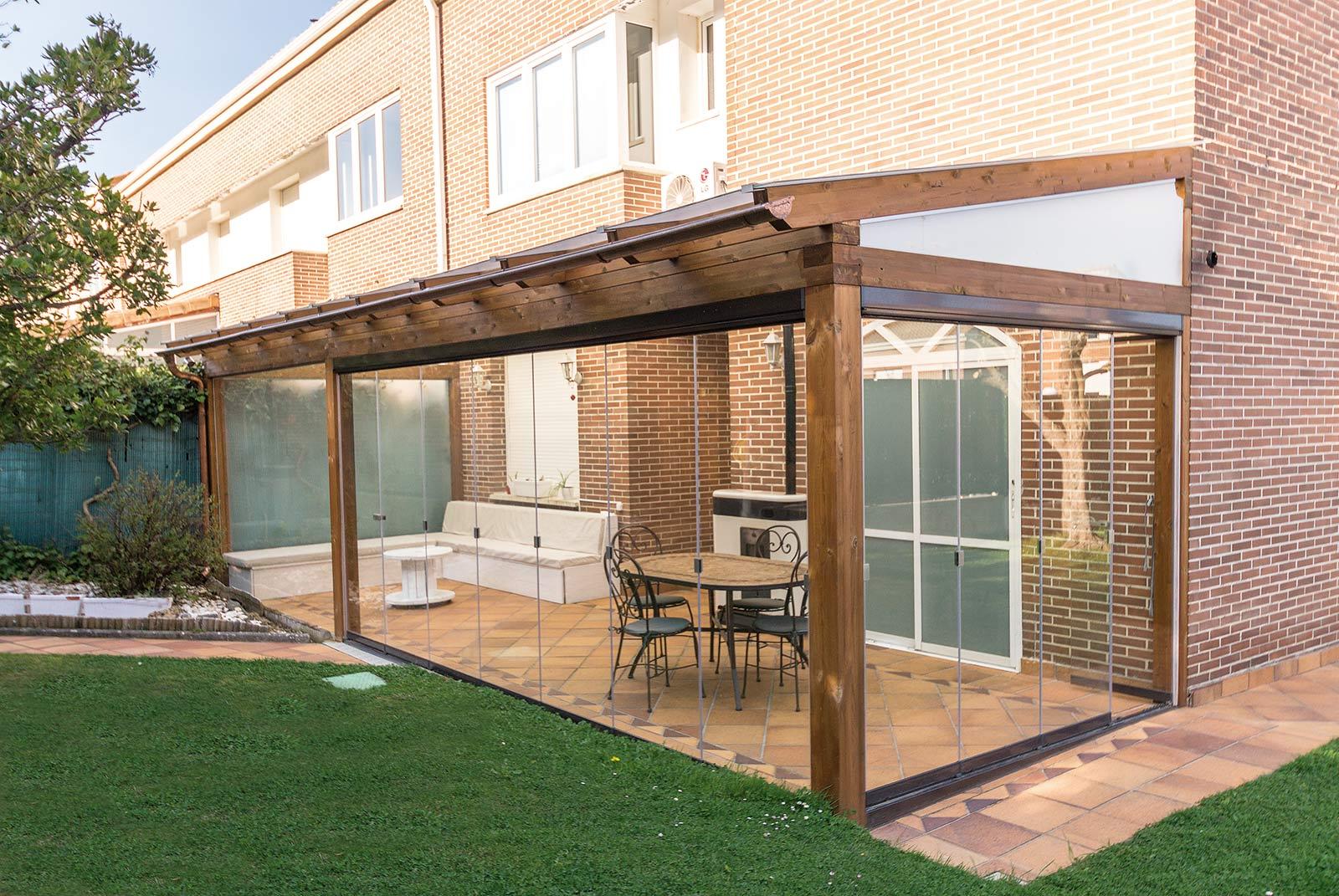 porche de madera acristalado proyectos echarri On jardin porche