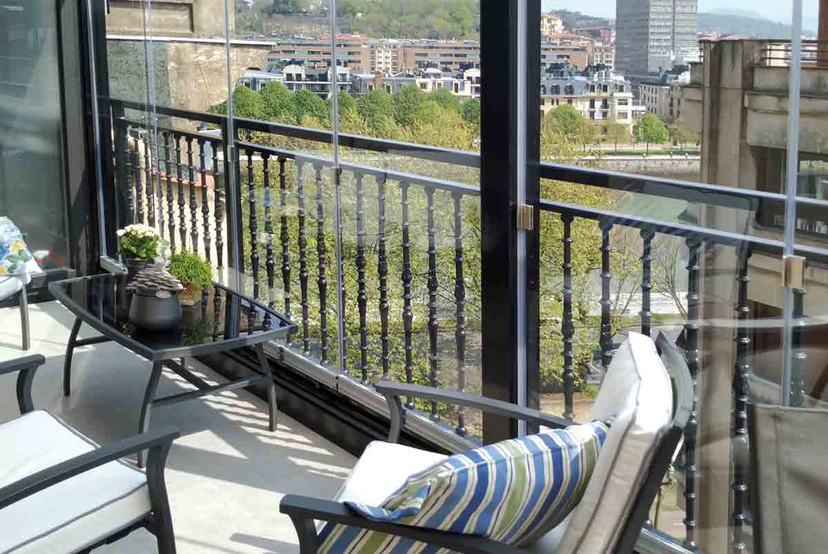 Cortinas de cristal en terrazas